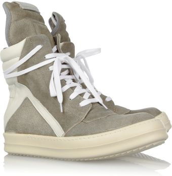 Rick Owens Suede Hightop Sneakers - Lyst