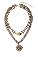 Topshop Ram Multi Row Necklace - Lyst