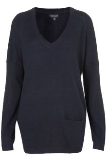 Topshop Knitted Asymmetric Jumper - Lyst
