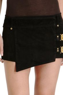 Balmain Wrap Mini Skirt - Lyst
