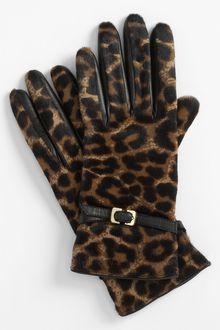 Diane Von Furstenberg Buckled Calf Hair Gloves - Lyst