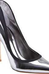Gianvito Rossi Twotone Pointed Toe Pump - Lyst