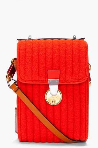 Kenzo Tall Orange Wool Messenger Bag - Lyst