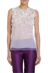 Prabal Gurung Bow Embellished Shell Top - Lyst