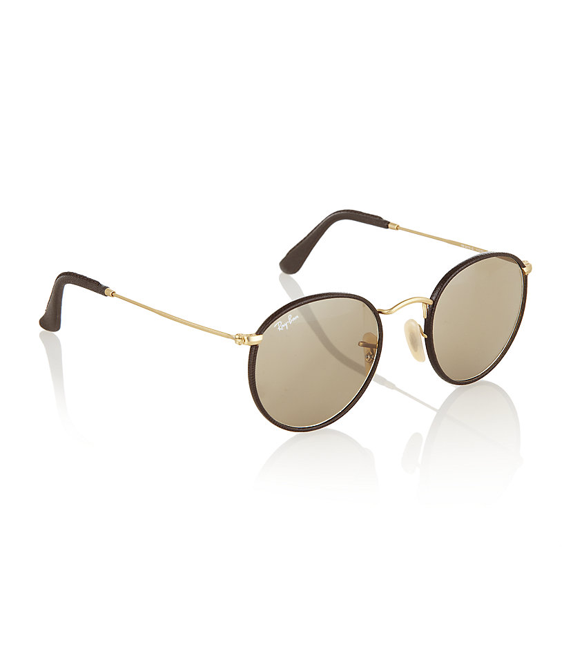 ray ban round sunglasses leather  gallery