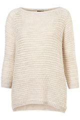 Topshop Knitted Grill Stitch Jumper - Lyst