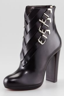Christian Louboutin Troop Buckled Bootie - Lyst