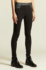 Givenchy Givenchy Womens Leather Trousers - Lyst