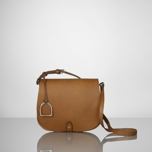 1a2c821bf057 Lyst - Ralph Lauren Rl Equestrian Saddle Bag in Brown
