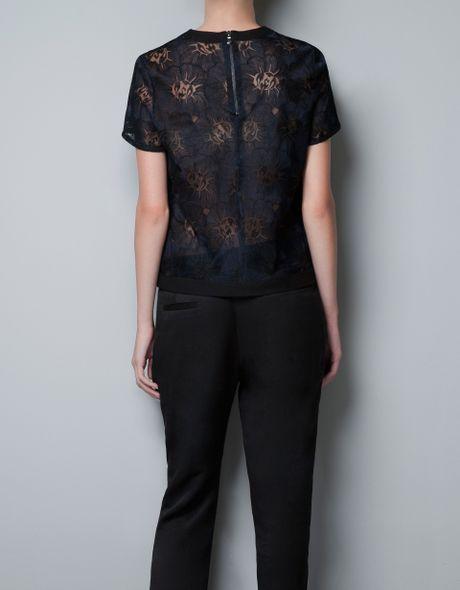 Zara Black Lace Blouse 15