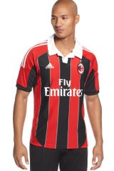 Adidas Climacool Ac Milan Home Jersey in Red for Men - Lyst