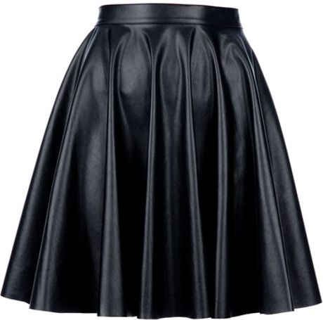 amen pleated leather skirt in black lyst