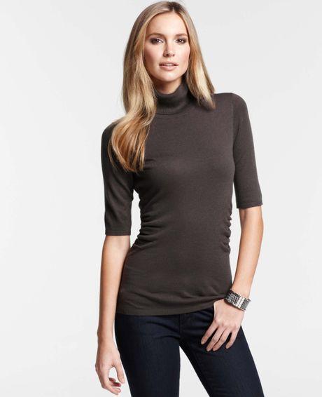 Short Sleeve Turtleneck Sweaters for Women