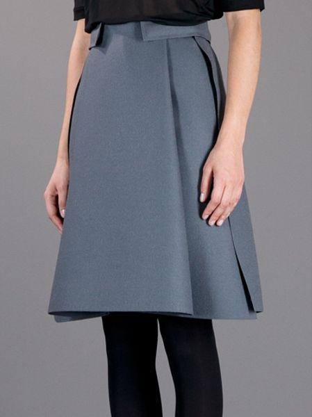 balenciaga a line skirt in gray grey lyst