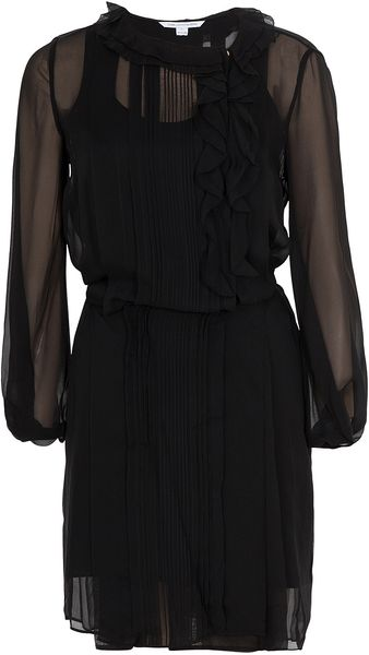 Diane Von Furstenberg Kelly Solid Chiffon Dress - Lyst