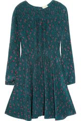 Girl. By Band Of Outsiders Grapevine Printed Silk Crepe De Chine Dress - Lyst
