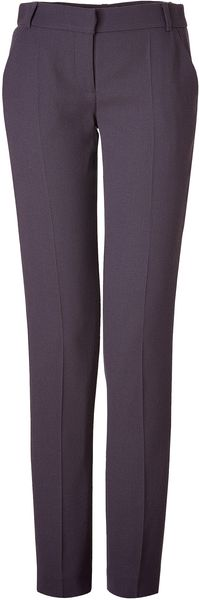 Matthew Williamson Plum Wool Crepe Pants - Lyst