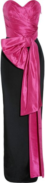 Notte By Marchesa Pleated Silktaffeta and Crepe Gown - Lyst