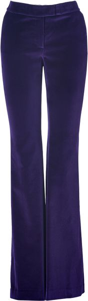 Rachel Zoe Eggplant Velvet Flared Hutton Tuxedo Pants in Purple (eggplant) - Lyst