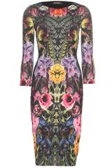 Roberto Cavalli Print Dress in Floral - Lyst