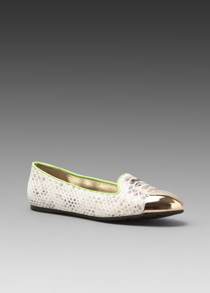 Senso Diffusion Etami Flat in White (taupe snake) - Lyst