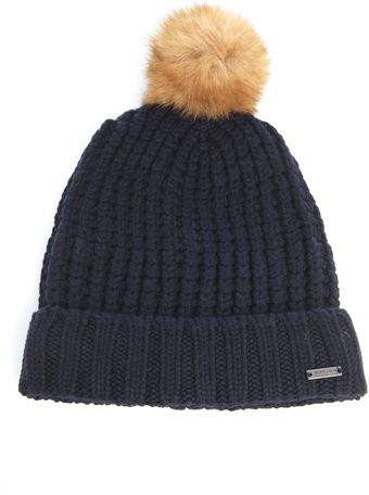 Woolrich Fox Fur Bobble Hat - Lyst