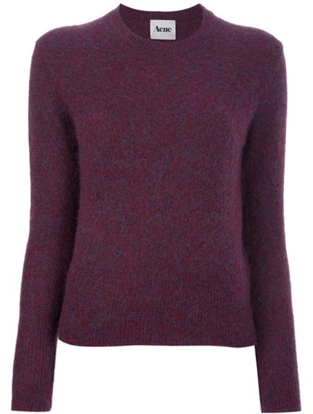 Acne Studios Lia Sweater in Red - Lyst