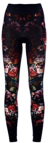 Alexander Mcqueen Floral Legging in Black (floral) - Lyst