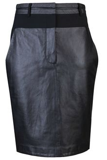 Alexander Wang Leather Skirt - Lyst