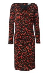 Almost Famous Brush Stroke Animal Print Dress - Lyst
