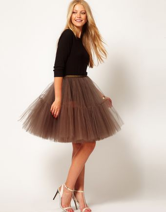 Asos Full Skirt in Mesh - Lyst