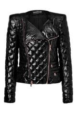 Balmain Black Quilted Down Jacket in Black - Lyst