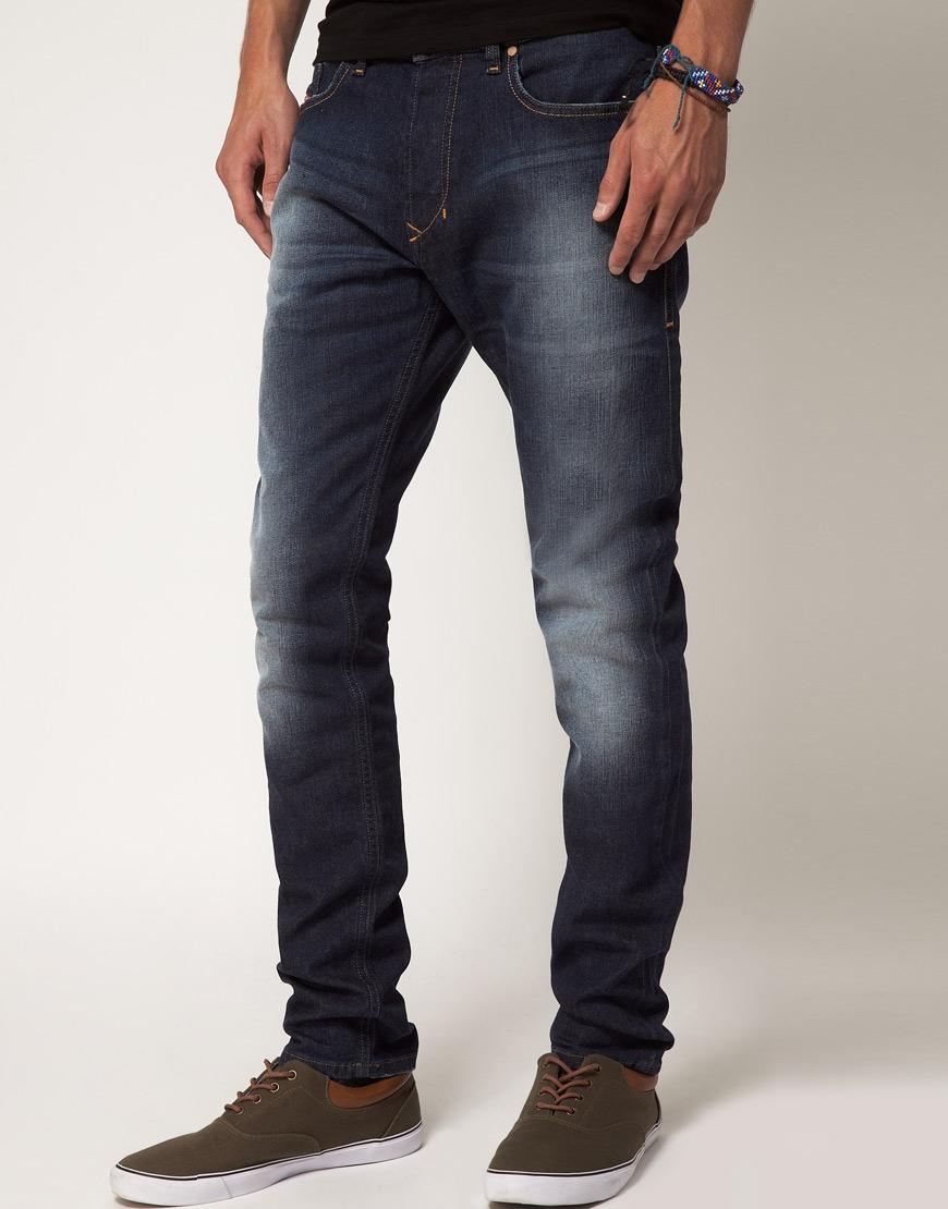 Diesel Jeans Tepphar Slim 805M in Blue for Men | Lyst
