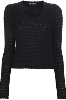 Dolce & Gabbana Scoop Neck Sweater - Lyst