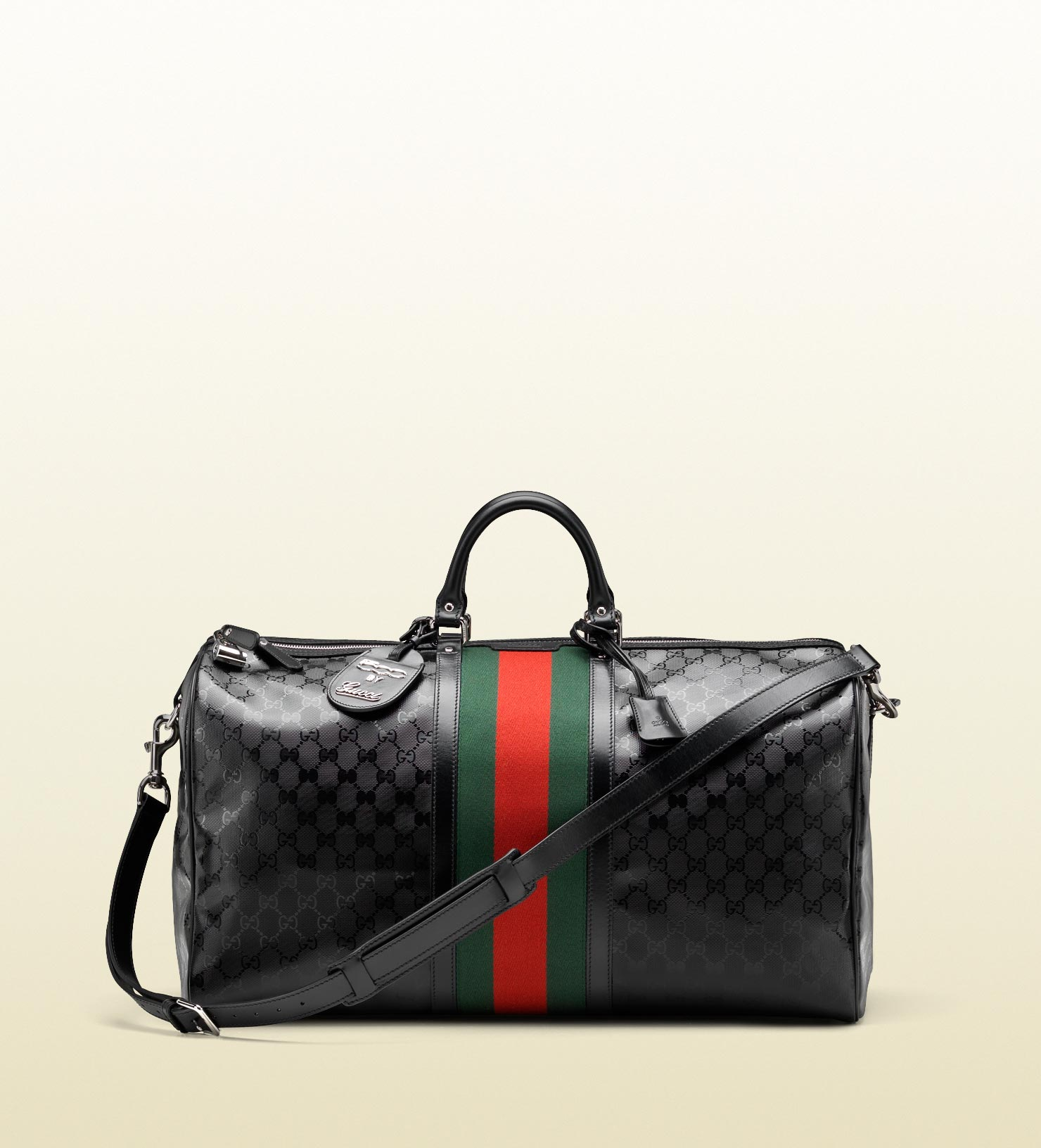 245516923e11b3 Gucci Carry-on Duffle With Signature Web Detail in Black for Men - Lyst