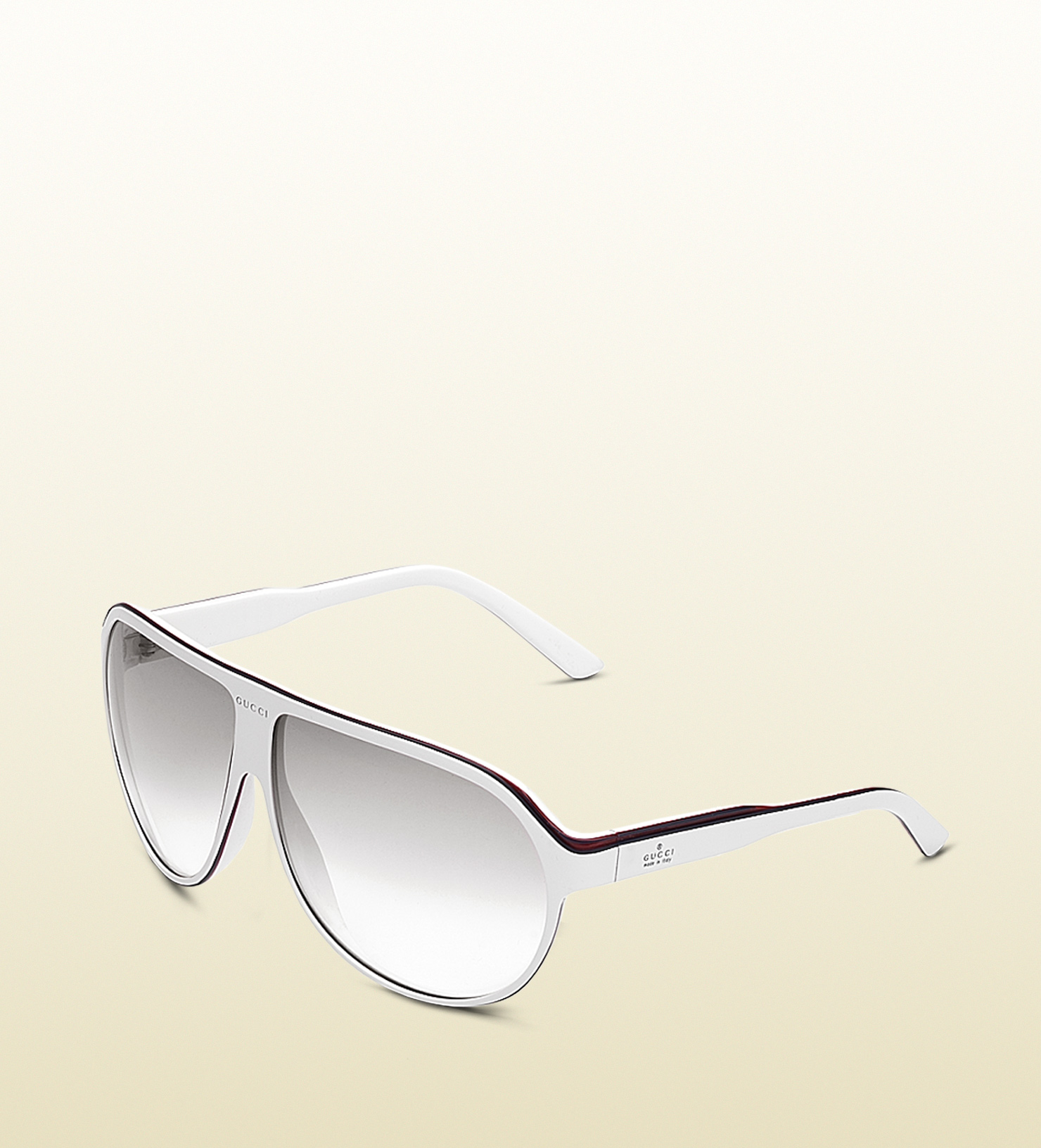 66fb1431461 Lyst - Gucci Large Aviator Frame Sunglasses with Gucci Trademark ...