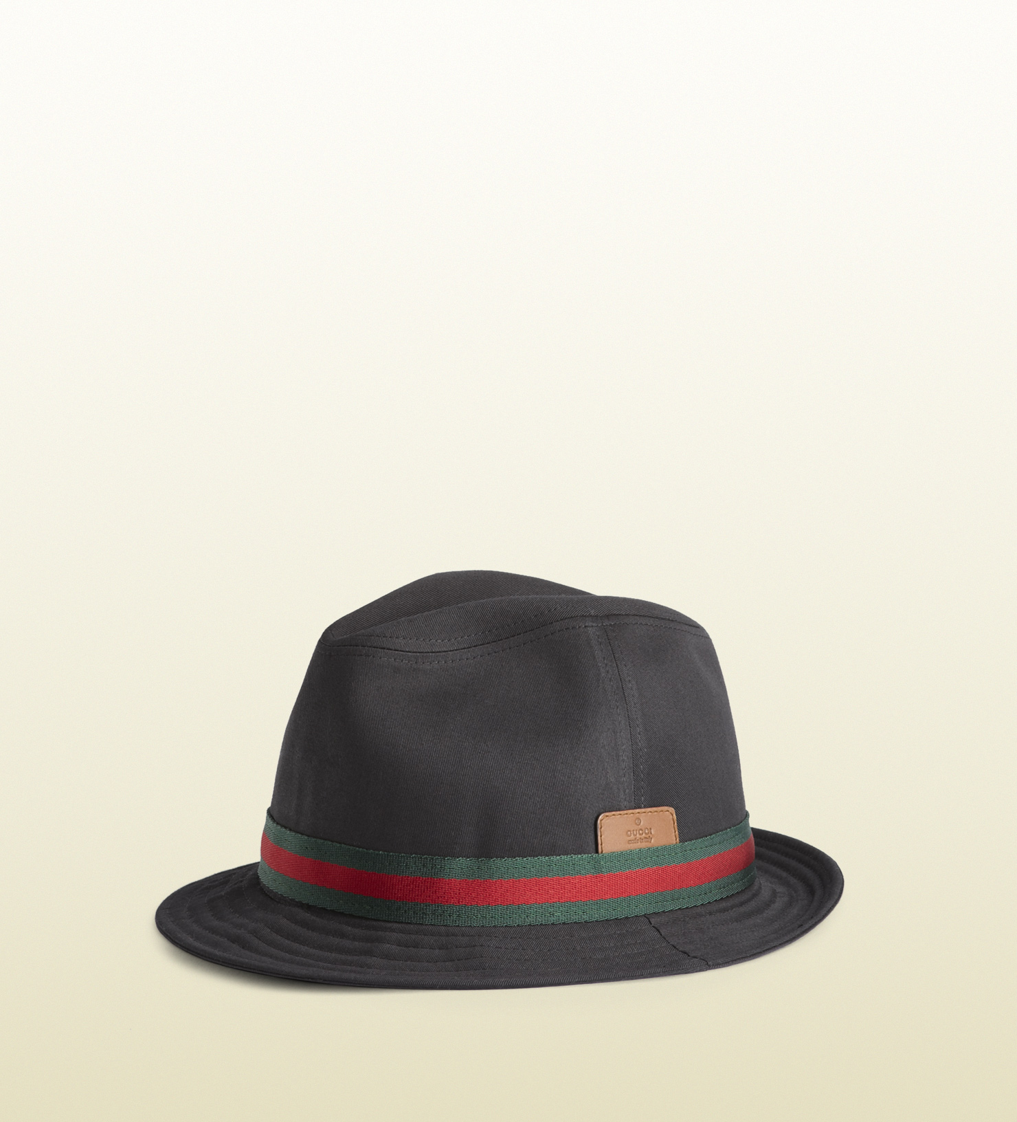 a605f2fe371 Lyst Gucci Trilby Hat With Embossed Trademark In Black For Men. Armani  Exchange ...