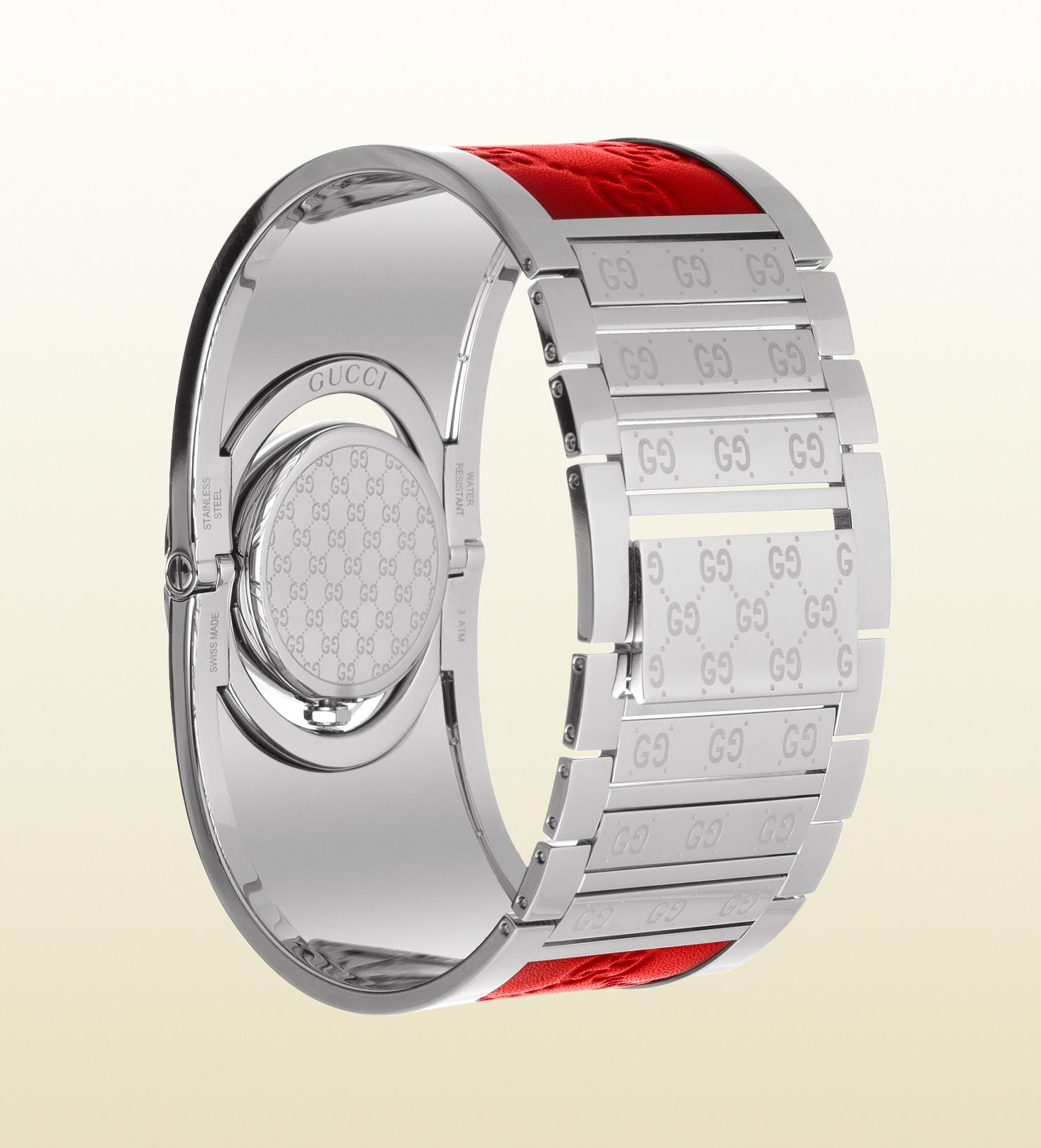 0a04189eb3d Lyst - Gucci Twirl Collection Watch in Red