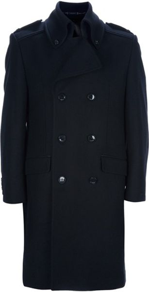 Lagerfeld Double Breasted Coat - Lyst