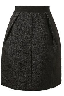 Marc Jacobs Metallic Wool Blend Bouclé Skirt - Lyst
