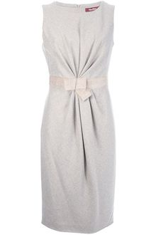 Max Mara Studio Gathered Sleeveless Dress - Lyst