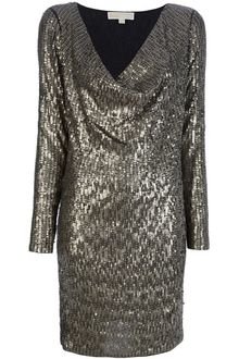 Michael by Michael Kors Sequinned Dress - Lyst
