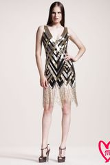 Naeem Khan Bg 111th Anniversary Sequinedpattern Cocktail Dress - Lyst