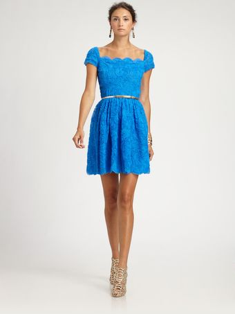 Oscar de la Renta Tulle Dress - Lyst