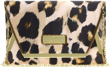 River Island Oversize Leopard Clutch in Animal (purple) - Lyst