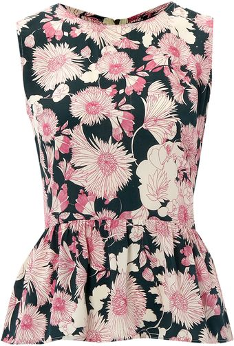 Therapy Floral Peplum Top - Lyst