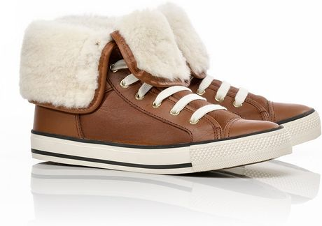 Tory Burch Benjamin High Sneaker in Brown (sienna) - Lyst
