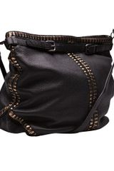 Bottega Veneta Cervo Cross Body Messenger in Black - Lyst