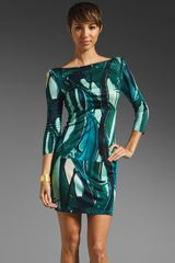 Catherine Malandrino 3/4 Sleeve Dress - Lyst