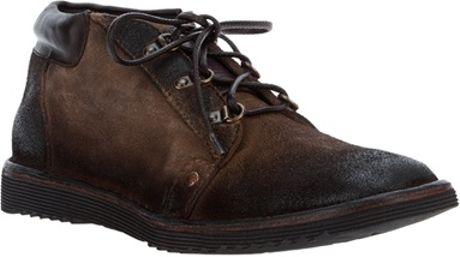 Distressed Brown Leather Shoes for Men